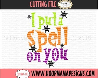 I Put A Spell On You Halloween SVG DFX EPS and png Files for Cutting Machines Cameo or Cricut