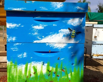Bee Hive Boxes - Beautifully Hand-Painted - Made by Backyard Beekeepers