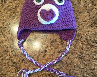 Crochet Care Bear Hat