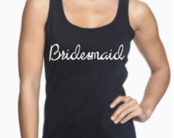 Personalized Bridesmaid, Maid of Honor, or Matron of Honor Tank Top