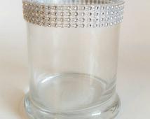 Bling Wedding Cylinder Glass, Wedding Centerpiece, Rhinestone Vase