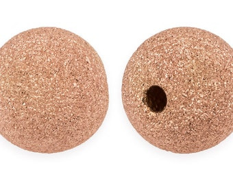 2 Pcs 6 mm 14K Rose Gold Filled Stardust Beads (RGF520406)