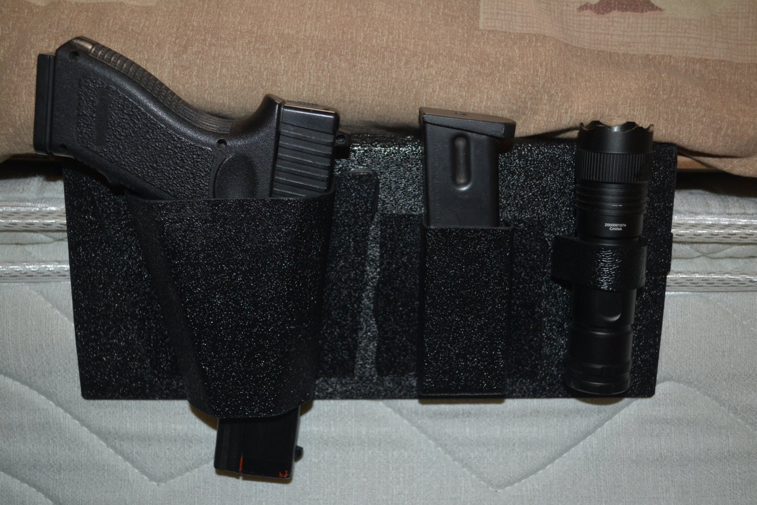 Saf Sleeper Bedside Gun Holster With Free Flash Light And