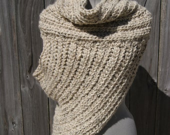 Huntress Vest/ Archer's Cowl- Oatmeal