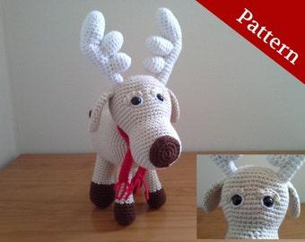 PATTERN: Reindeer, Crochet Reindeer, Amigurumi Pattern, PDF format