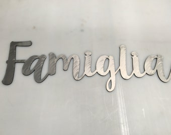 Famiglia Metal Wall Art 36 inch wide to 48 inch long
