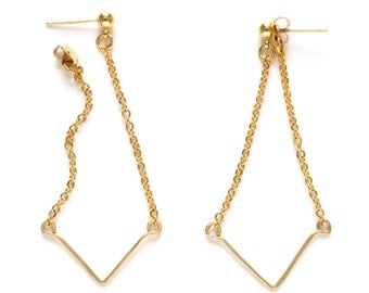 Gold Angle Earrings