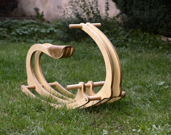 Wooden Rocking Horse for kids, Wood, Gift for Kids, Wooden Eco friendly children toy, Free shipping