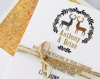 Two Stags - Wedding Stationery Set