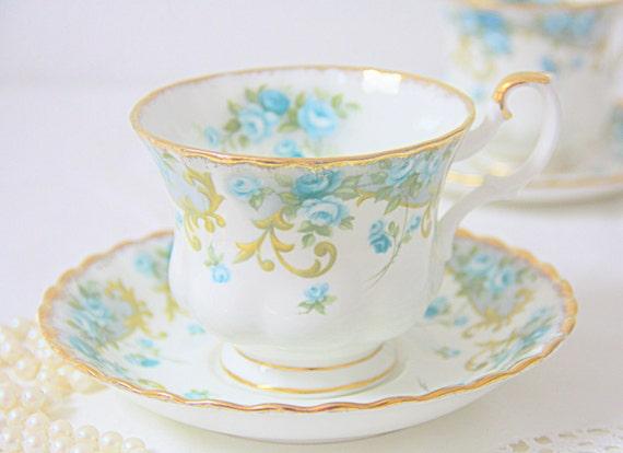 Vintage Royal Albert Bone China Sheraton Series 'Veronica' Cup and Saucer,Gentleman Size, England