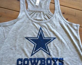 Dallas Cowboys Tank, Cowboys Womens Shirt,  Womens Cowboys Tee, Gameday Shirt, Soft Tshirt