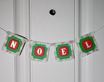 Christmas Mini Banner - NOEL Mini Banner - Christmas Mini Bunting - Holiday Mini Banner - Christmas Mini Pennants