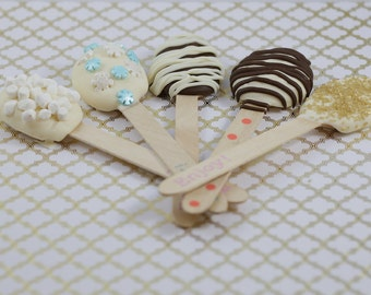 One Dozen Chocolate Dipped Spoons - Hot Chocolate Spoons