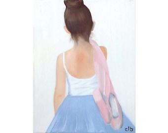 Ballerina Print, Oil Painting, Original Art, Giclee Fine Art Print, Dancer Painting, Dance Art, Ballet Painting, Ballet Print