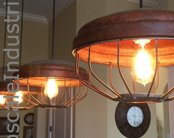 Ceiling Light/Chicken Feeder Pendant Light/Industrial Pendant Lighting/Steampunk/Farmhouse Chandelier/Kitchen Island Lighting/Rustic Light