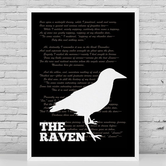 how does poe create tension in the poem the raven The raven best reflects edgar allan poe's sense of despair and gloominess because the literary elements of the poem constantly refer to his sadness and gloom the setting , a major character, and poe's use of assonance,.