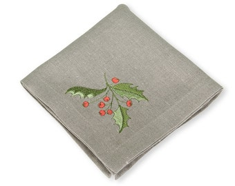 Linen Napkins, Cotton Linen Napkins, Pure Linen, Grey Linen Napkins, Table Decoration, Dining Table Napkins, Christmas Napkins