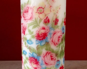 Spring Flowers, Home Decor, Scented Candle, Gift