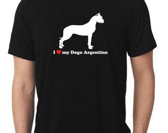 I Love My Dogo Argentino T-Shirt T1194