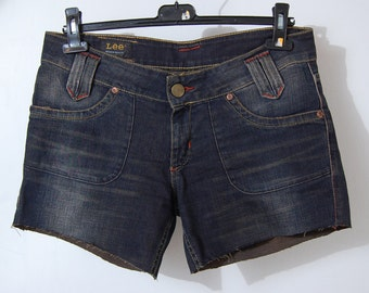 90 'Vintage High Waist Lee Jean Shorts, Festival Shorts
