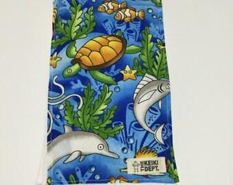 Burp Cloth, Spit Up Rag, Ocean Animals