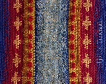 Crochet rug Wool rug Handmade rug Carpet Decorative rug Geometric rug Floor rug Rag rug Home decoration Colorful rug House warming gift