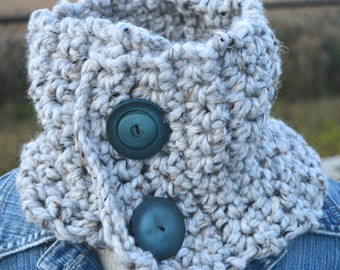 Wool scarf neck warmer for woman