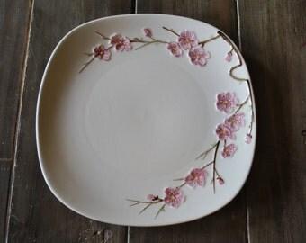 Metlox Poppy Trail Peach Blossom in California-Dinner plate 1950's Dining
