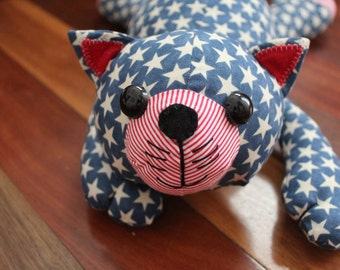 Cat soft toy-Stars & Stripes