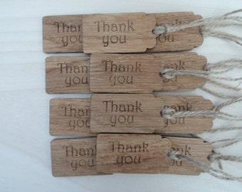 Oak 'Thank you' Tags.