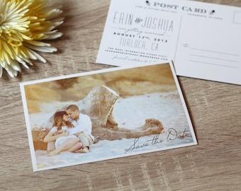 Postcard Photo Save the Date Card | DIY Printable PDF, Custom Save the Date Postcard, Picture Save the date, Script, Photo Save-the-date