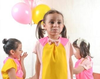 Flower girl dress, party dress, Bithday dress, occasion dress, little girl dress, princess dress, pink dress, imbroidery dress