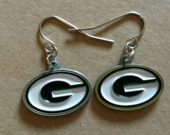 Simple Green Bay Packers Earrings