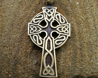 Celtic Cross, Irish, Trinity Knots cross, Jewelry