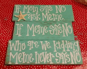 If mom says no ask Meme. If Meme says no. who are we kidding.  Meme never says no. Turquoise with starfish.