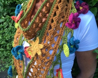 Lacy Scarf- Crochet Pattern