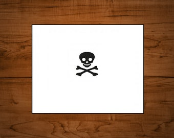 Scull and Crossbones machine embroidery design file in 9 formats **** instant download