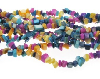 Natural Dyed Shell Chips, Natural Shell Beads, Shell Beads,  Colorful shell beads