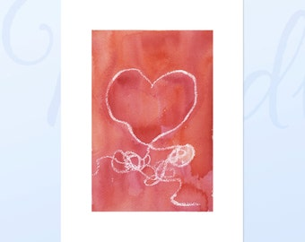 Red Heart Giclee Reproduction