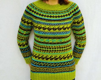 Icelandic sweater Norwegian sweater Womens sweater Fair Isle sweater