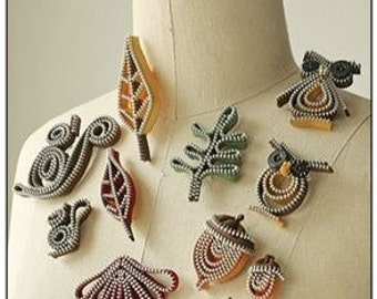 "Zipper Jewelry PATTERN ""Woodland Zips"""