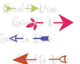arrow SVG, arrow words SVG, arrow feathers SVG, arrows svg, blank arrows svg, feather svg, arrow set svg, boho svg, bohemian svg, hippie svg