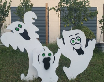 Halloween ghost | Scary yard signs | 3 piece set