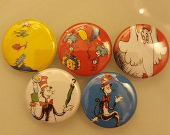 "Dr. Seuss Pin Button 1"""