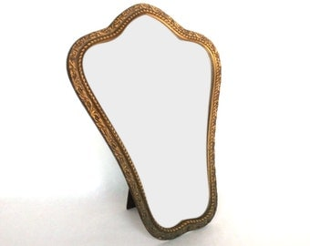 Antique Wooden Boudoir Mirror