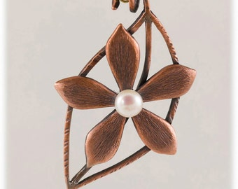 copper set (pendant and ring) Tisart