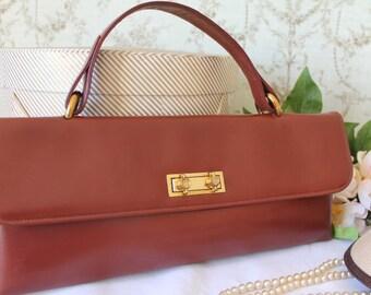 Vintage, 1960's, Leather Handbag/Pocket Book/ 1960's Leather Bag/ SALE  (15Z)