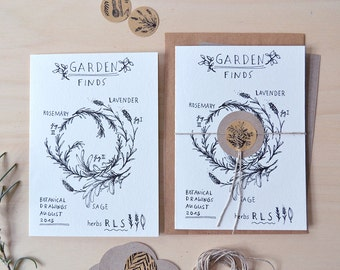Garden Finds - Folded Card