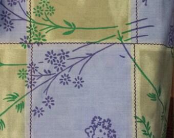 Golden Dor Fabric Blue/Green Checkerboard