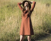Organic Cowl Tunic/ Dress, Custom Eco Dyed